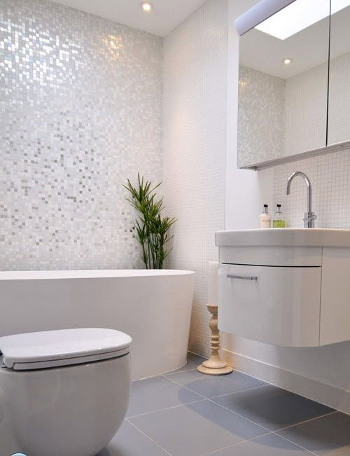 28 white mosaic bathroom tile ideas and pictures 2020
