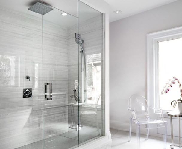 Brilliant 15 White Ceramic Bathroom Wall Tiles Ideas And Pictures