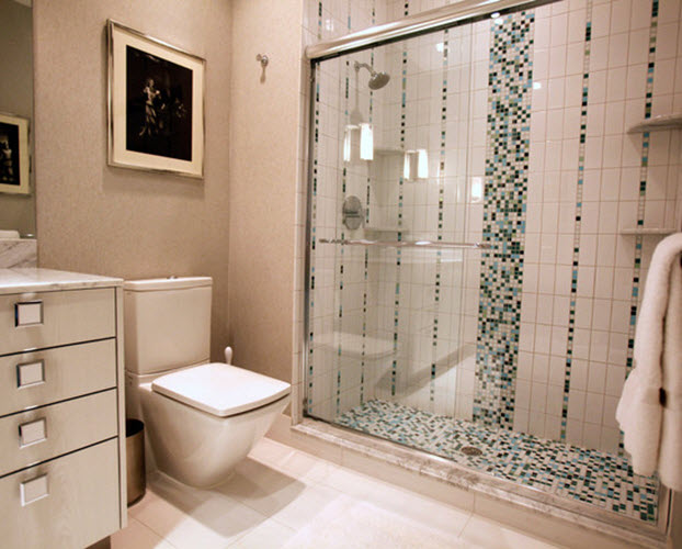Awesome 23 White Ceramic Bathroom Tile Ideas And Pictures