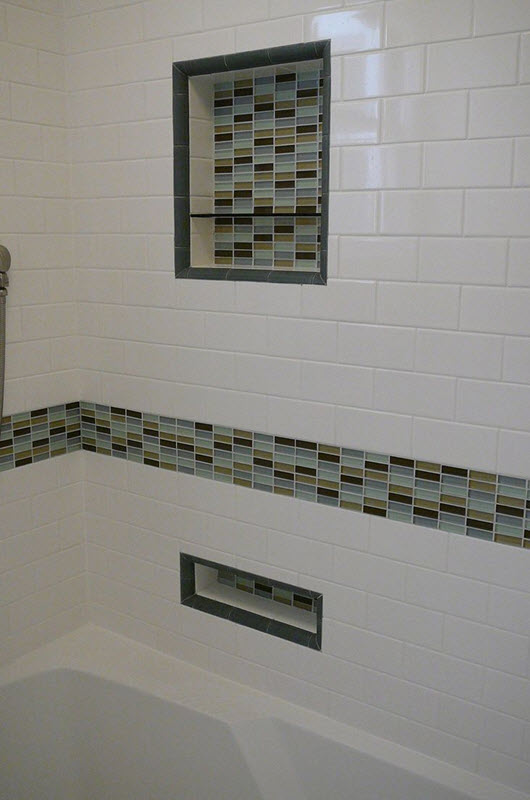 37 white rectangular bathroom tiles ideas and pictures for Bathroom design ideas mosaic tiles