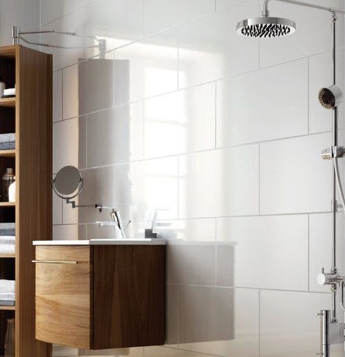 Small Bathroom Rectangular Tiles