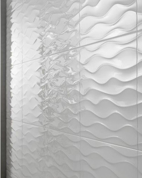 Wavy Tile Bathroom: 20 White Ripple Bathroom Tiles Ideas And Pictures