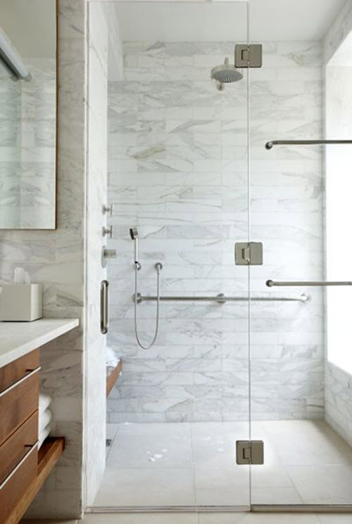 30 White Shower Floor Tile Ideas And Pictures