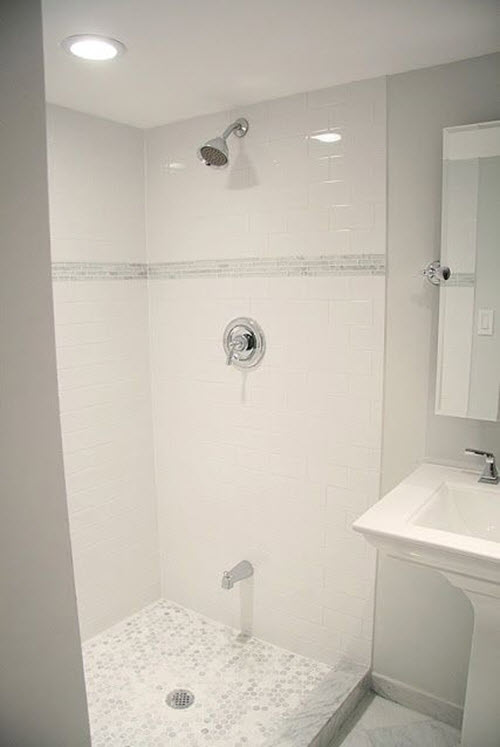 38 White Shower Tile Ideas And Pictures 2020