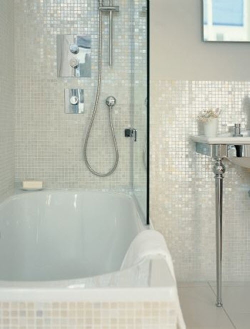 Creative 31 White Glitter Bathroom Tiles Ideas And Pictures
