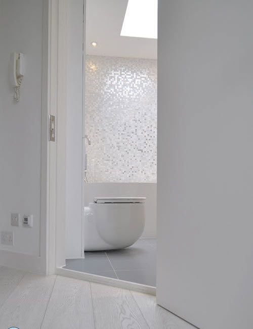 Model Gorgeous Crystals Add Elegance To Creative Wall Tile Designs Which Celebrate Nature Inspired Bathroom Decor Themes Blue, Black, Beige And White Colors  Surfaces Of Wall Tiles That Create Additional Glitter, Reflecting The Light Elegant