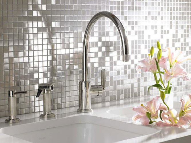 White Sparkle Bathroom Tiles 7 8