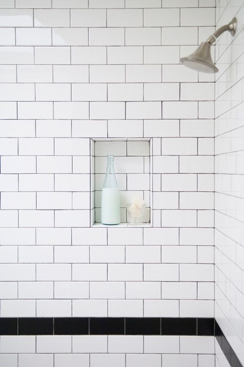 Bathroom Tile Ideas No Grout : White subway tile in shower ideas and pictures