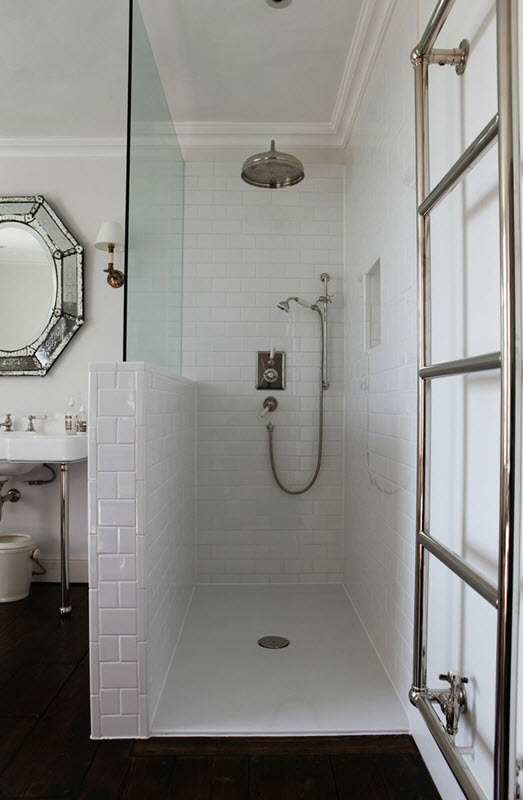 31 white subway tile in shower ideas and pictures. Black Bedroom Furniture Sets. Home Design Ideas
