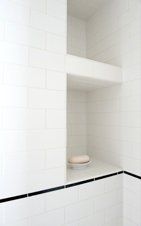 White subway tile shower pictures