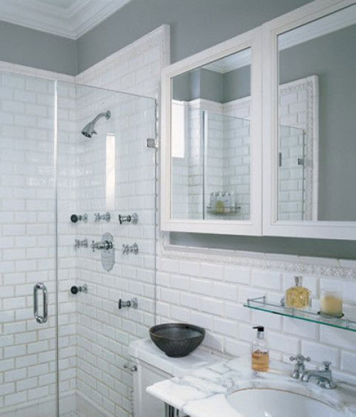 31 white subway tile in shower ideas and pictures for Bathroom designs york