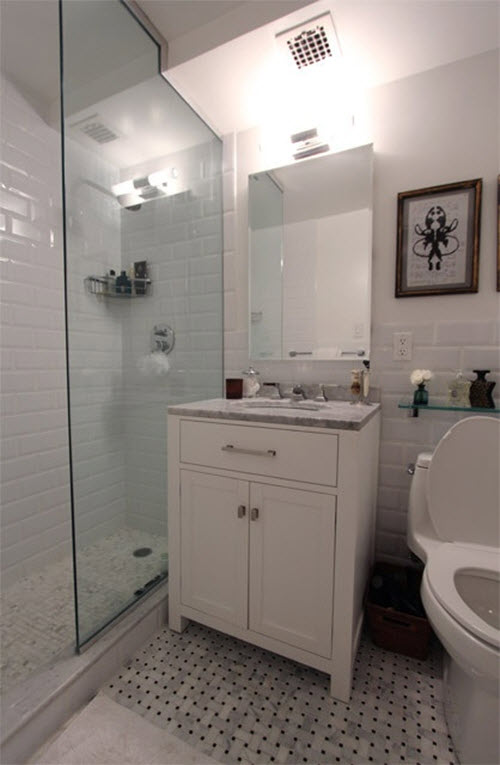 White Subway Tile In Shower Ideas And Pictures Adding A To Bathroom