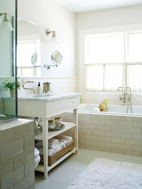 White Subway Tile Tub Surround Ideas And Pictures