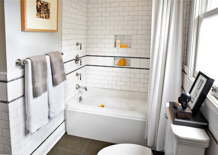 29 White Subway Tile Tub Surround Ideas And Pictures 2019