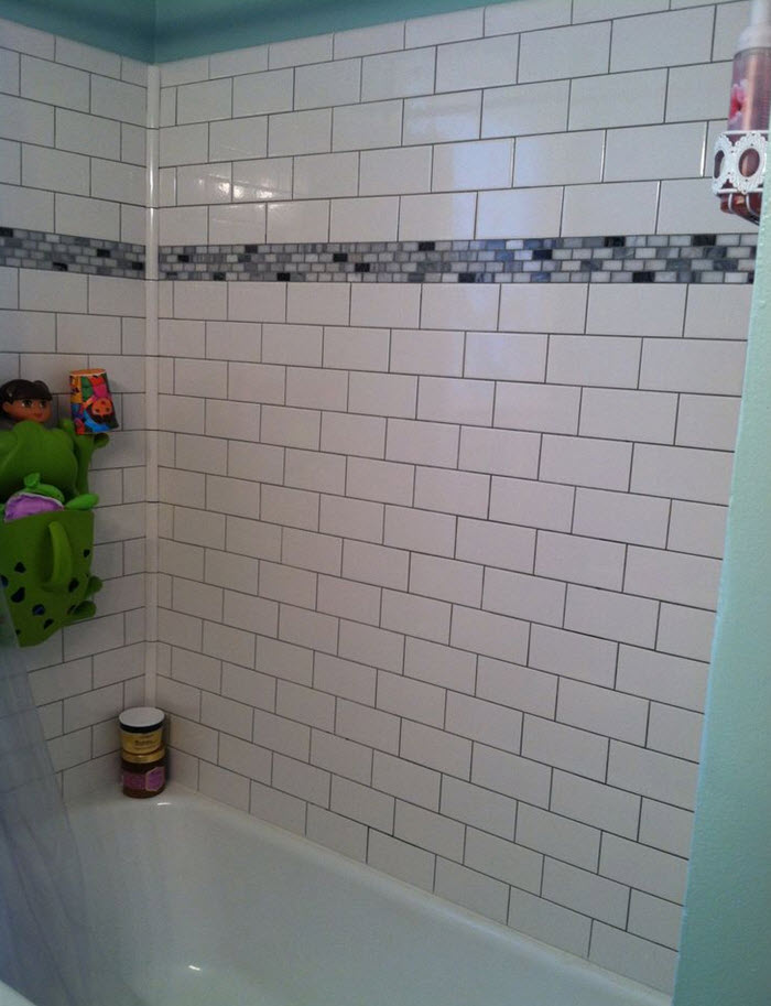 White Subway Tile Tub Surround 27 30 32 33