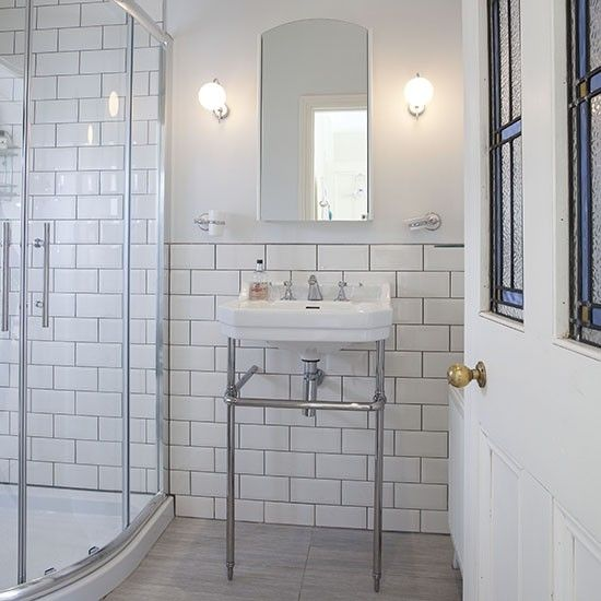 29 white victorian bathroom tiles ideas and pictures for Bathroom ideas edwardian