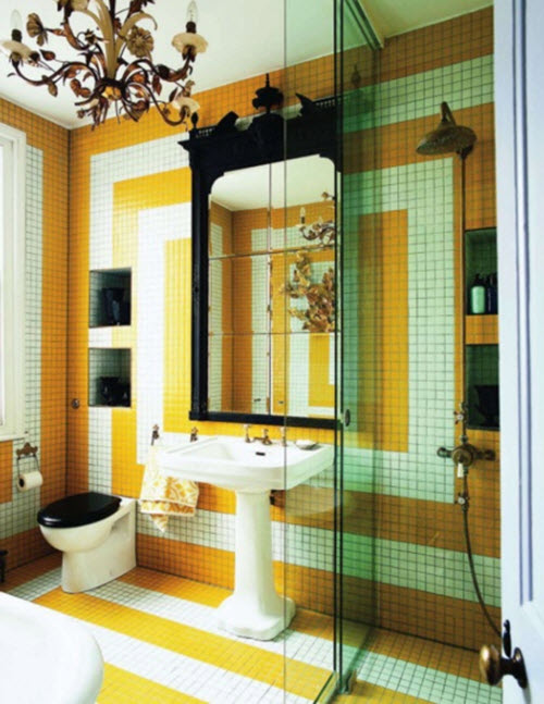 Yellow Bathroom Floor Tile Ideas And Pictures
