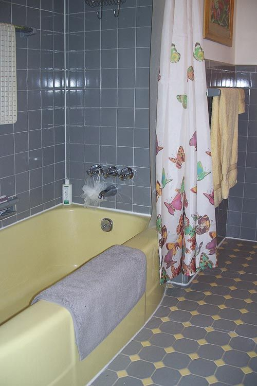 Yellow Bathroom Floor Tiles With Unique Pictures