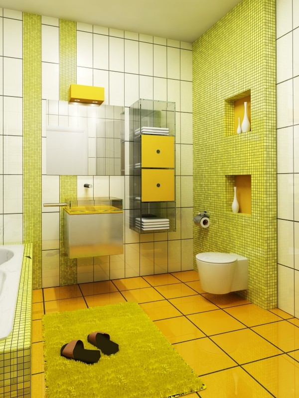34 yellow bathroom floor tile ideas and pictures 33 vintage yellow bathroom tile ideas and pictures
