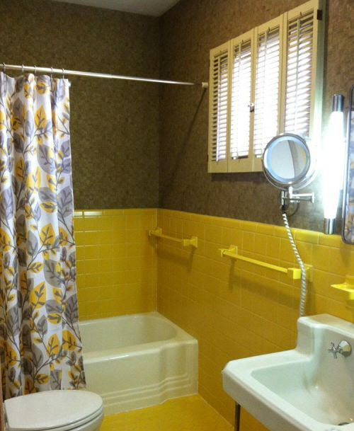 yellow bathroom tile ideas and pictures
