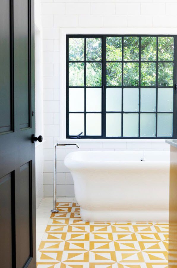 38 Yellow Bathroom Tile Ideas And Pictures 2019