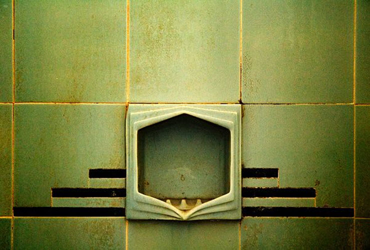 36 1950s Green Bathroom Tile Ideas And Pictures - Art-deco-green-bathroom-tiles