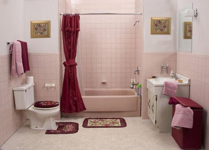 Ideas Ceramic Accessories 1950s Pink Bathroom Tile 36 37