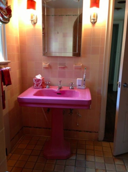 34 4x4 Pink Bathroom Tile Ideas And Pictures 2019