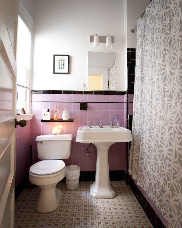 Do S Don Ts For Decorating With Black Tile: 34 4x4 Pink Bathroom Tile Ideas And Pictures