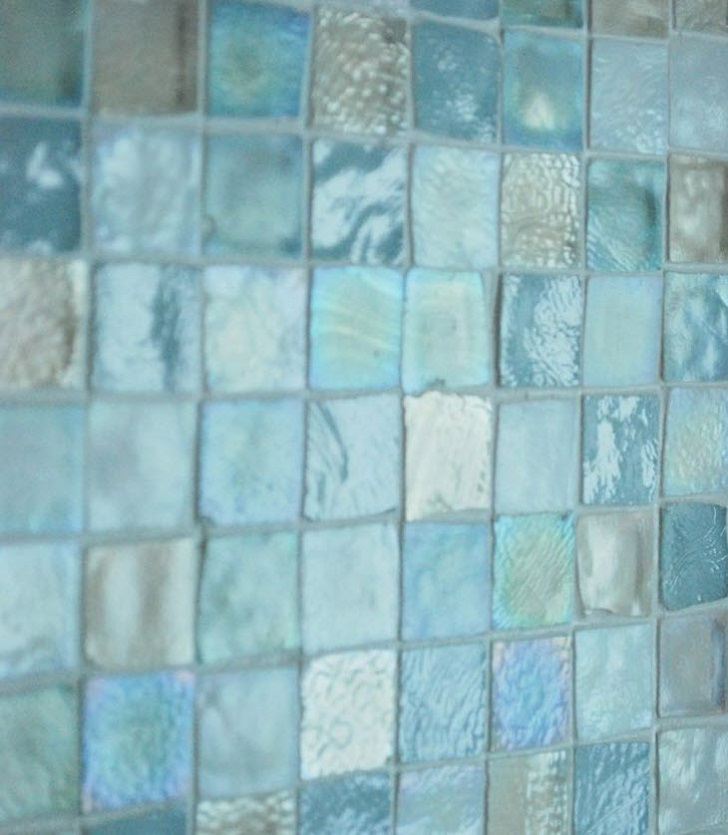 41 aqua blue bathroom tile ideas and pictures for Blue tile bathroom ideas