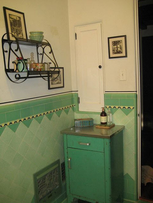 Green Tiles Bathroom