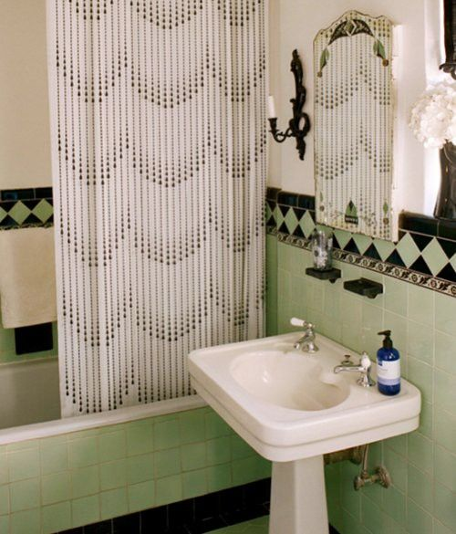 36 art deco green bathroom tiles ideas and pictures for Bathroom ideas art deco