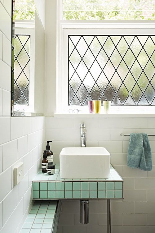 36 art deco green bathroom tiles ideas and pictures for Small art deco bathroom ideas