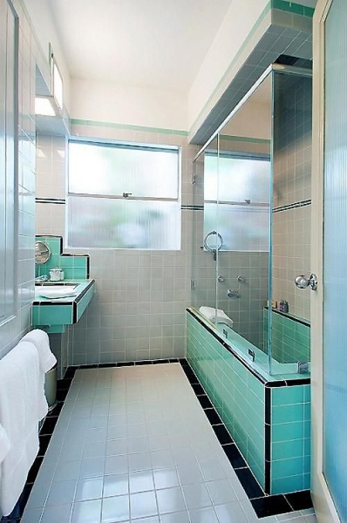 36 art deco green bathroom tiles ideas and pictures. Black Bedroom Furniture Sets. Home Design Ideas