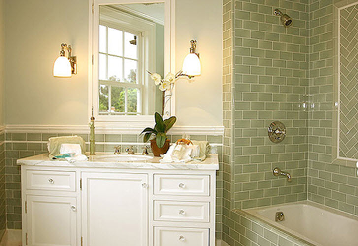 Not Using Tiles Bathroom Ideas: 35 Avocado Green Bathroom Tile Ideas And Pictures