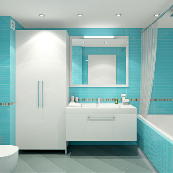 36 baby blue bathroom tile ideas and pictures for Baby blue bathroom ideas