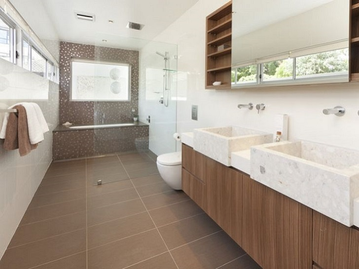 Fliesen Bad Braun: 40 Beige And Brown Bathroom Tiles Ideas And Pictures