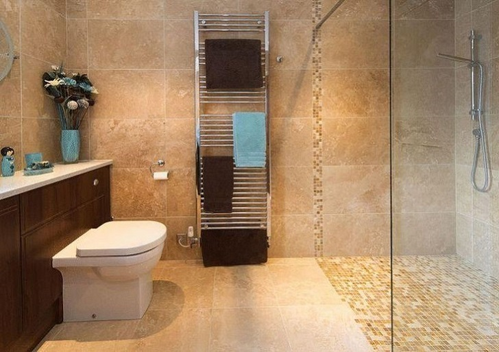 21 Model Beige Bathroom Tiles Ideas