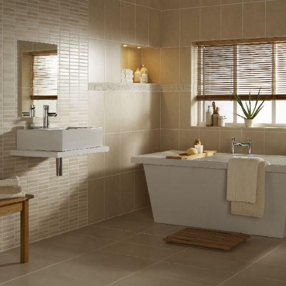40 beige bathroom tiles ideas and pictures for Bathroom designs natural