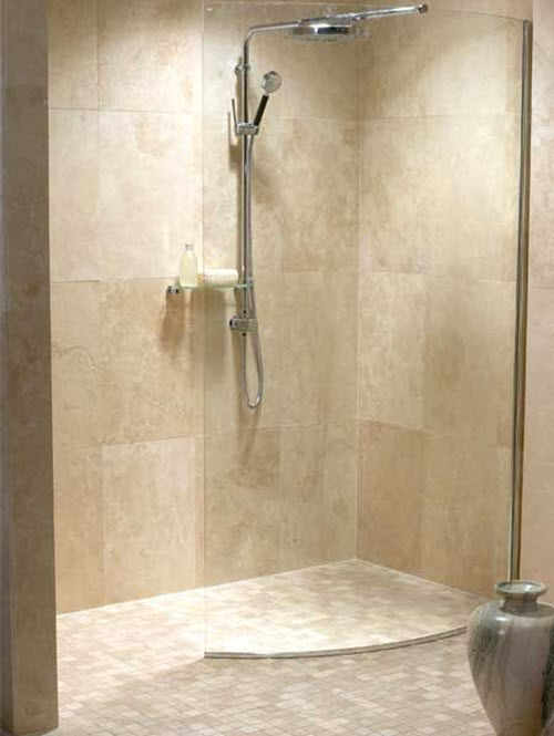 40 beige bathroom tiles ideas and pictures for Small shower room designs pictures