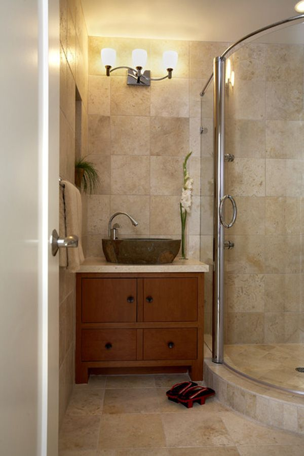 Luxury Photo Of Contemporary Beige Bathroom With Big Tiles Radiators Tiles