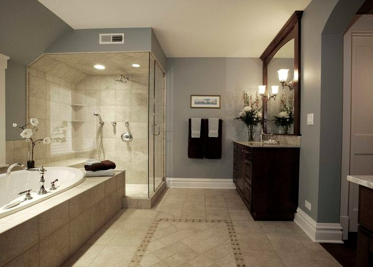 40 beige bathroom wall tiles ideas and pictures Beige brown bathroom design