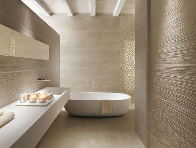 40 beige bathroom wall tiles ideas and pictures - Beige bathroom design ...