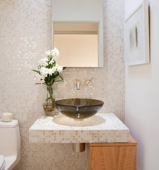 40 beige mosaic bathroom tiles ideas and pictures 2020