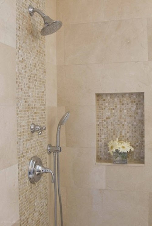 Beautiful  Tiles On The Floor And Walls In Beige The Shower Floor Also Displays
