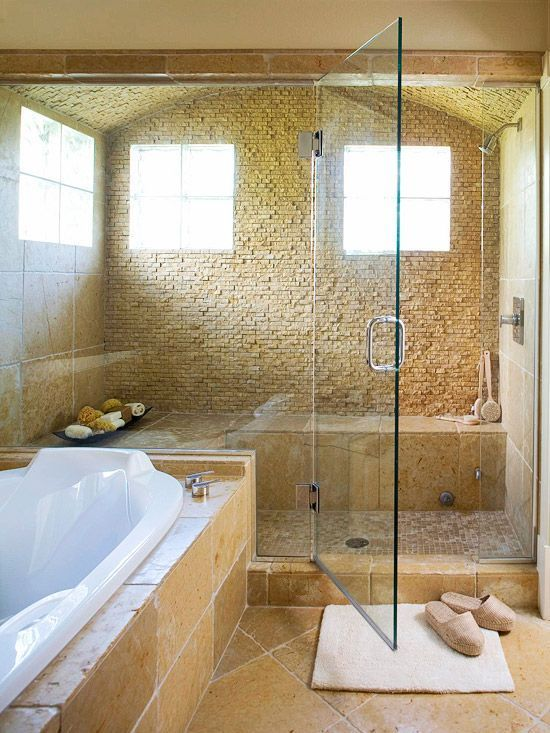 40 Spectacular Stone Bathroom Design Ideas: 40 Beige Stone Bathroom Tiles Ideas And Pictures 2019