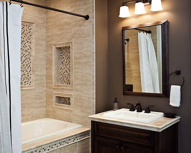 40 beige stone bathroom tiles ideas and pictures - Beige bathroom design ...
