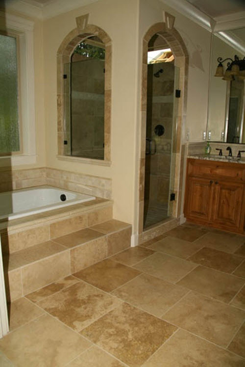 Brilliant 31x45 TravertineStone Effect BeigeCream Bathroom Wall Tiles  EBay