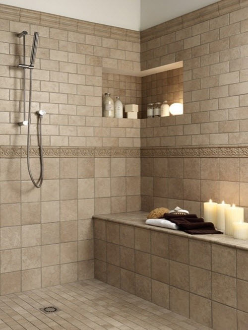 Unique Bathroom Tiles Retro Blue Bathroom Tile Beige Bathroom Floor Tiles