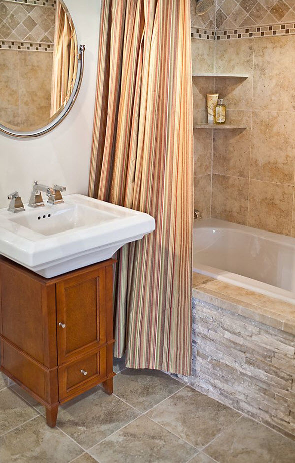 Amazing 40 Beige Stone Bathroom Tiles Ideas And Pictures
